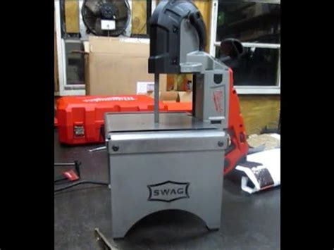 harbor freight portaband table swag off road portable band saw table review youtube