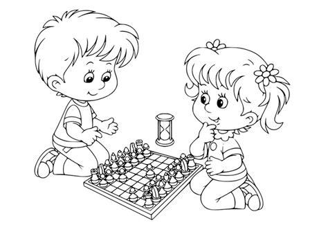 Coloriage Jouer Aux échecs  Img 30102