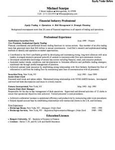 Equity Trader Resume Example Resumes Design