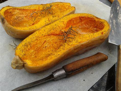 courge cuisiner courge butternut rôtie aux herbes de provence et à l huile