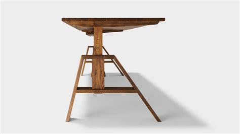 atelier desk height adjustable    solid wood