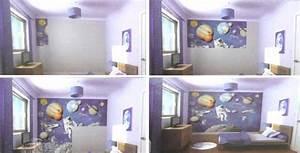 Papier Peint Espace : cosmonaute espace est un papier peint pour chambre d 39 enfant ~ Preciouscoupons.com Idées de Décoration