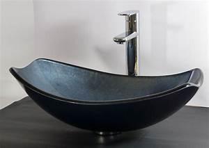 Waschbecken Oval Aufsatz : design aufsatz glas waschbecken oval grau blau waschschale aufsatzwaschbecken eur 119 00 ~ Orissabook.com Haus und Dekorationen