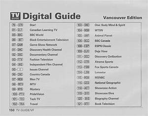 Vintage Channel Guide From Vancouver Shaw Cable Edition Of