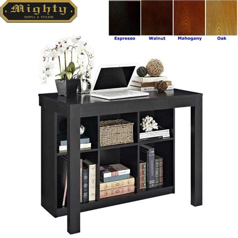 Black Writing Desk With Storage by Wooden Storage Bookcase Black Writing Desk Wd 4081