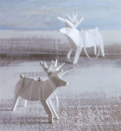origami reindeer porcelain tree ornaments set