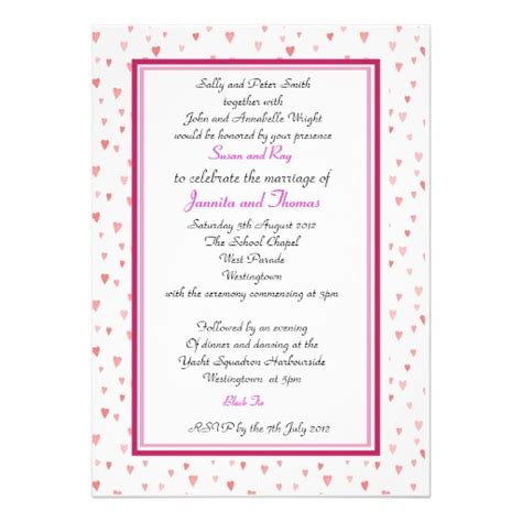wedding invitations with hearts pink love hearts wedding invitation template wedding
