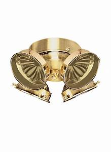 B four light ceiling fan kit polished brass