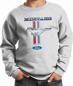 Buy Cool Shirts Kids Ford Mustang Sweatshirt Stripe Youth Sweat Shirt | eBay