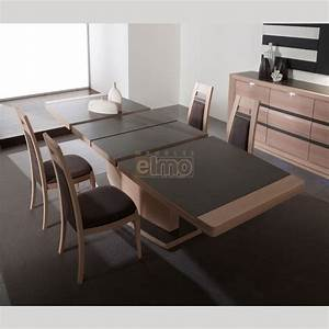 table contemporaine extensible chene plateau ceramique 10 With salle À manger contemporaine avec table À manger carrée avec rallonge