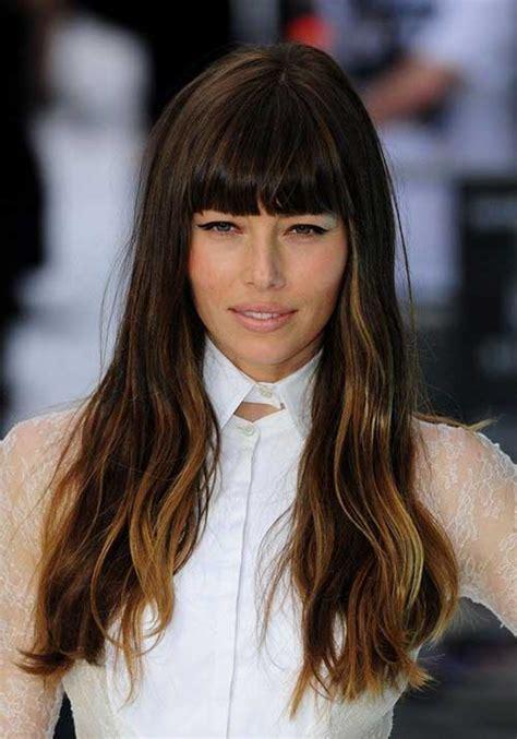 beautiful long hairstyles  bangs
