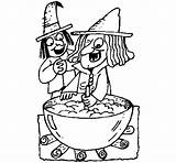 Potion Witch Coloring Coloringcrew Template Halloween sketch template