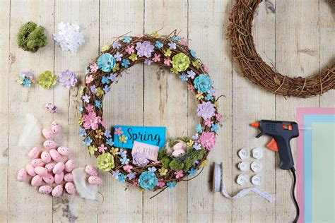 how to make a wreath 50 spring and easter wreaths with fresh designs