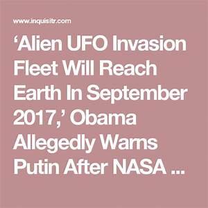 'Alien UFO Invasion Fleet Will Reach Earth In September ...
