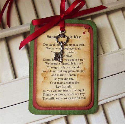 santas magic key poem tag santas magic key christmas