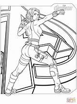 Coloring Widow Avengers Marvel Printable Drawing Superhero Games Blackwidow Crafts sketch template