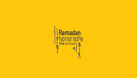 ramadan typography free vectors on behance