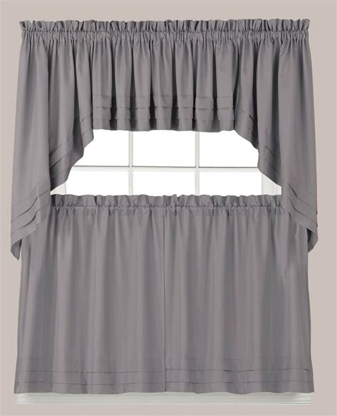 holden kitchen curtain gray tiers swags valances