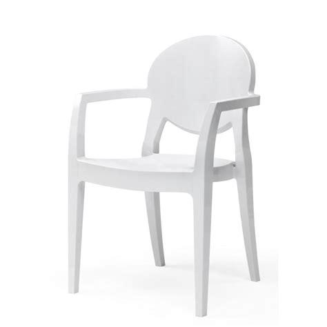 chaises b b chaise blanche design avec accoudoirs igloo b achat
