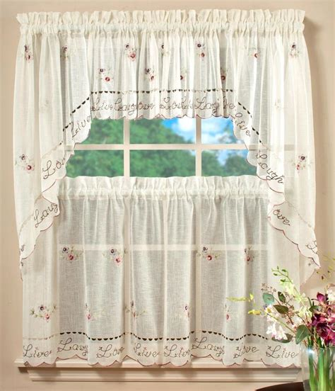 saturday live laugh kitchen curtain window