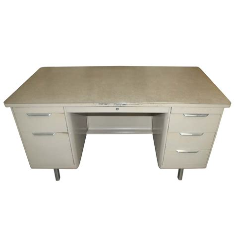 desk with drawers on both sides midcentury retro style modern architectural vintage