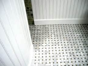 Bathroom Marble Basketweave Floor Tile