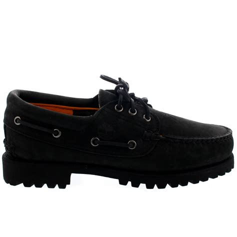 Timberland 3 Eye Boat Shoes Black by Mens Timberland Authenic 3 Eye Black Loafer Smart