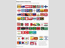 64 countries have religious symbols on their national