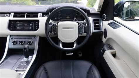 range rover sport suv interior dashboard satnav carbuyer