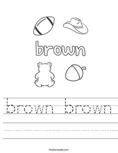 color brown worksheet preschool preschool