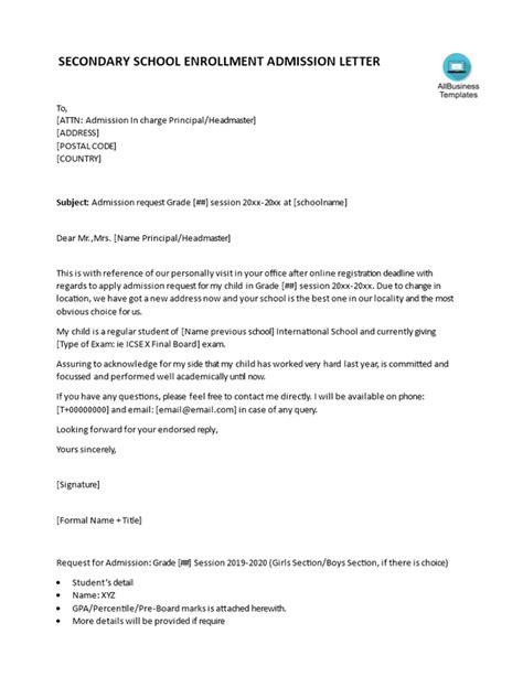 write  letter requesting  school principal