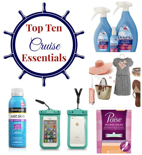 Top Ten Travel Essentials For Cruising - Product Reviews By The Experimental Mommy
