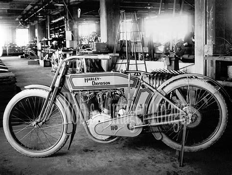vintage harley davidson motorcycle factory shop photo 1914