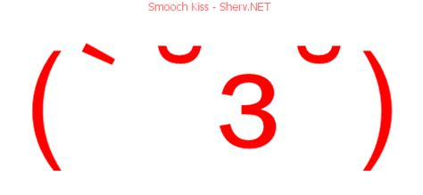 smooch kiss facebook emoticon text art  emoticons