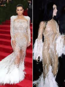 kim kardashians met gala dress inspired  cher pic