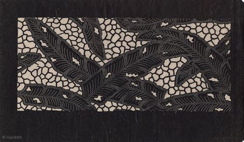 japanese paper stencil katagami  textile dying early
