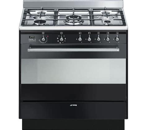 smeg gas range cookers buy smeg concert 90 cm dual fuel range cooker black free delivery currys
