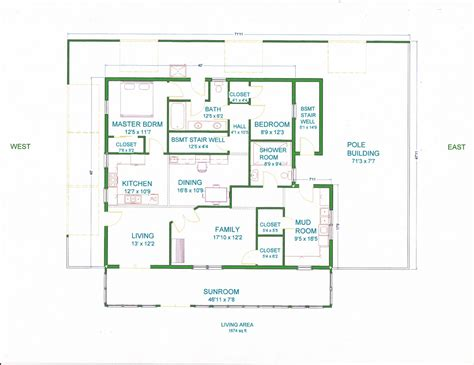 4 bedroom pole barn house floor plans pole barn house floor plans barn plans vip