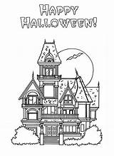 Coloring Haunted Pages Halloween Mansion Printable Houses Cliparts Luigi Colouring Mansions Spooky Cartoon Monster Popular Library Clipart Coloringhome Template sketch template