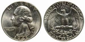 1941 D Washington Quarters Silver Composition Value And