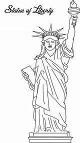 Liberty Statue Coloring Printable Template Drawing Pages Stupendous Paper Edible Cakes Read sketch template
