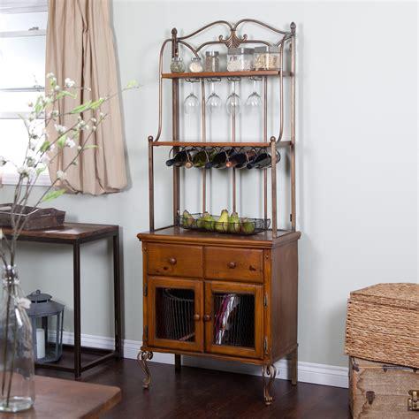 corner bakers rack with cabinet bakers rack furnitureteams