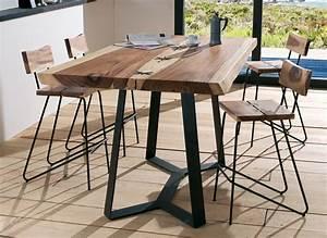 Table Bois Brut : mobilier pour restaurant ~ Teatrodelosmanantiales.com Idées de Décoration