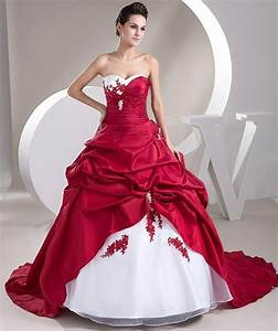 Popular Cheap Red and White Wedding Dresses-Buy Cheap ...