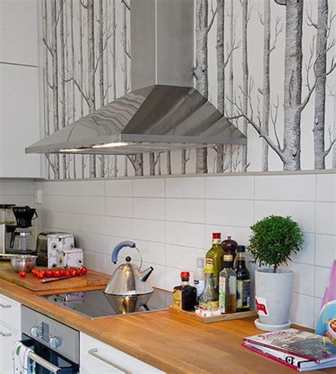 papier peint cuisine cuisine où poser papier peint pour un maximum d