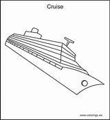 Cruise Ship Paquebot Coloring Coloriage Dessin Transportation Transport Transports Printable Bateau Beau Croisiere Imprimer Kb Coloriages Mes sketch template