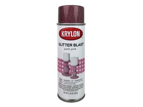 Krylon Glitter Blast Spray Paint 5.75 Oz. Posh Pink Toddler Tables And Chairs Set Chair Rental Nyc Brown Leather Bucket White Vinyl Studio Skirted Dining Cover Rentals For Weddings Wheels