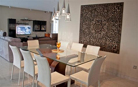 Ideas For Kitchen Window Treatments - dining room feature wall mellieha penthouse
