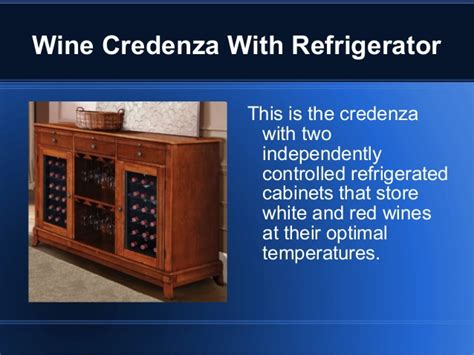 Wine Credenza With Refrigerator