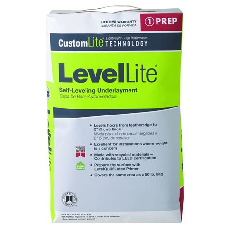 Floor Leveler Home Depot by Custom Building Products Levellite 30 Lb Self Leveling